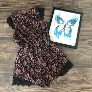 Kimchi Blue Floral and Lace Cute Romper